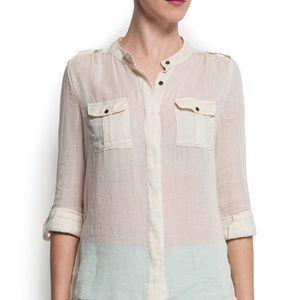 Beautiful Light Cotton Shirt Brand New Mango NWT